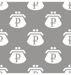 Rouble purse seamless pattern vector image
