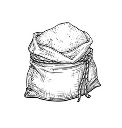 Sack of flour vector