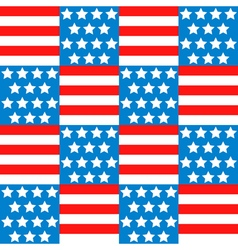 Seamless background with american flag vector image