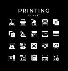 Set icons printing vector