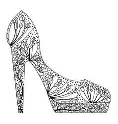 shoes tangle pattern vector image