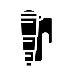 Spyglass pirate tool glyph icon vector