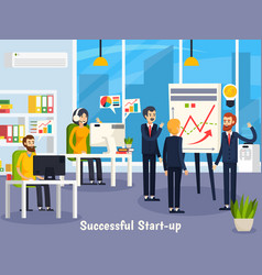 successful startup orthogonal composition vector image