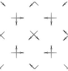 Swords pattern seamless black vector