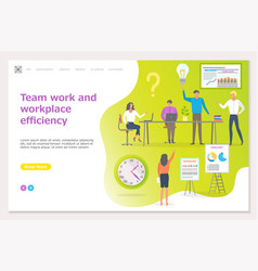 Teamwork workplace efficiency business seminar vector
