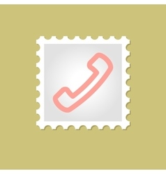 Telephone Handset stamp vector image