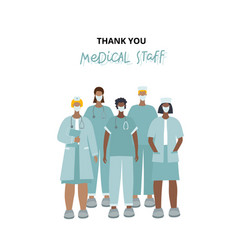 thank you healthcare heroes character vector image