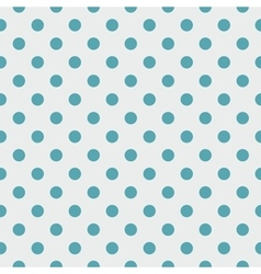 Tile pattern blue polka dots on grey background vector image