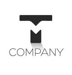 tm letter logo vector image
