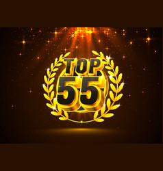 top 55 best podium award sign golden object vector image