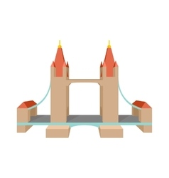 Tower Bridge in London icon cartoon style vector