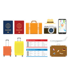 travel or holiday set collections object with vector image