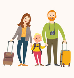 traveling family on vacation happy family with vector image