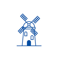 windmill sign line icon concept windmill sign vector image