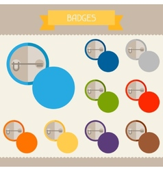 Badges colored templates for your design in flat vector image vector image