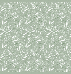 baroque seamless pattern vector image vector image