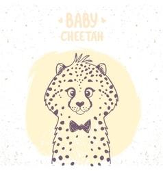 cheetah baby vector image vector image