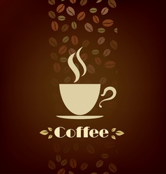 coffee cup background menu template vector image vector image