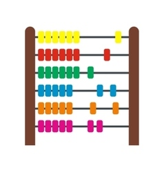 Colorful children abacus icon vector image vector image