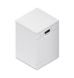Dishwasher detailed isometric icon vector image