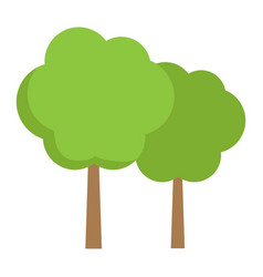 Forest flat icon travel and nature vector