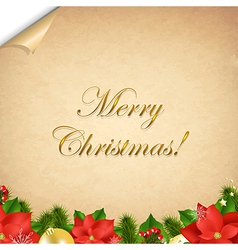 Old Paper With Corner And Christmas Border vector image vector image