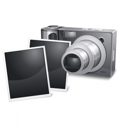 photo camera with sliding vector image vector image