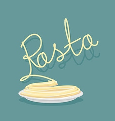 Plate of pasta A dish of Spaghetti vector image