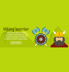 viking warrior banner horizontal concept vector image