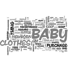 baby clothes essentials you cannot do without vector image