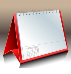 Blank desk calendar vector image vector image