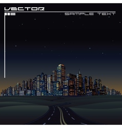 City on the Horizon Urban Road Megalopolis vector image vector image