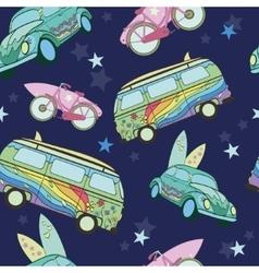 Dark Blue Surfboards On Transport Cars vector image vector image