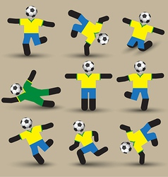 Football players silhouettes Use for soccer sport vector image