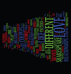 love is as you like it text background word cloud vector image vector image