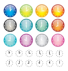 Set of watches sphere icons vector image vector image