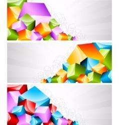 geometric banners vector image