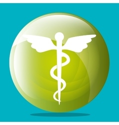 Medical healthcare graphic design with icons vector image