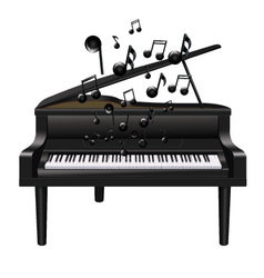 Piano With Melody vector image vector image