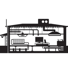 AH 542Different building installations vector image vector image