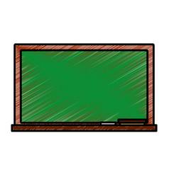chalkboard school isolated icon vector image