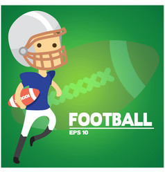 football text american football player background vector image vector image