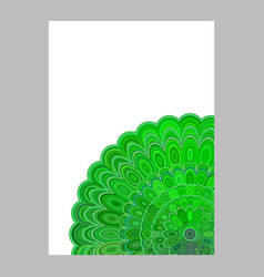 Green abstract floral mandala page background - vector