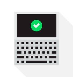 Pixel Laptop vector image vector image