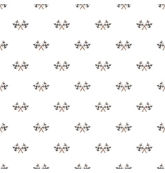 Racing flags pattern cartoon style vector image vector image