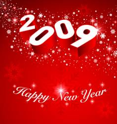2009 new year snow background vector image