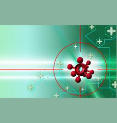 Abstract background coronavirus attack 3d danger vector