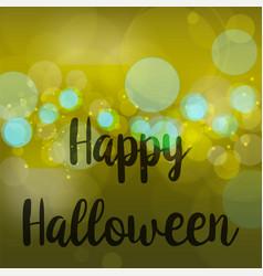 abstract blur happy halloween golden green vector image