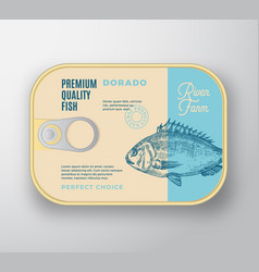 Abstract fish aluminium container with vector