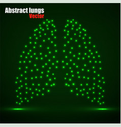 Abstract human lung glowing dots neon particles vector